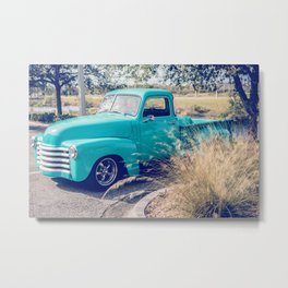 Chevy Truck by the Road Metal Print