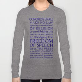 Defend Your Freedom of Speech Long Sleeve T-shirt