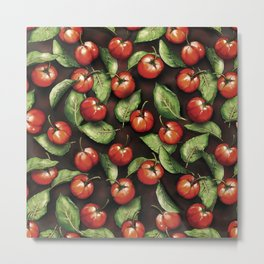 Fruit Acerola Pattern Metal Print