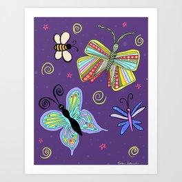 Bugs and Butterflies Art Print