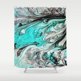 Seafoam Marble Shower Curtain