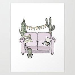 Couchella Art Print