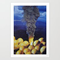 lemon Art Prints featuring Lemon by John Turck