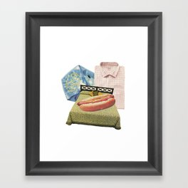 Men's Series: Made the bed Framed Art Print