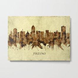 Fresno California Cityscape Metal Print