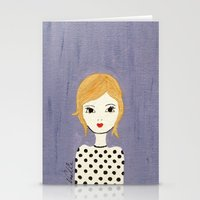 polka dots Stationery Cards featuring Polka Dots by christennoelle