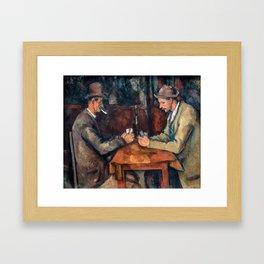 Paul Cezanne 1892-95 - The Card Players (Les Joueurs de Cartes) Framed Art Print