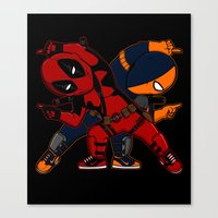 deathstroke Canvas Prints featuring WADE and SLADE by Betmac