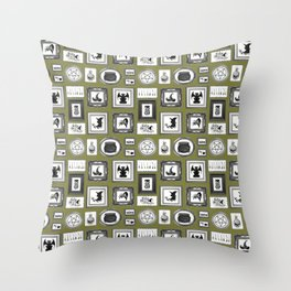 WITCHY WALLS Throw Pillow