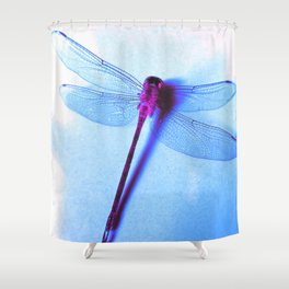 Iridescent Dragon Fly - Digital Photography Art Shower Curtain