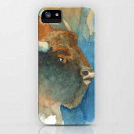 Wary Bison iPhone Case