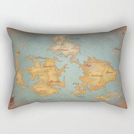 Gaia World Map- Final Fantasy VII Rectangular Pillow