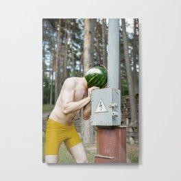 Watermelon Man Metal Print