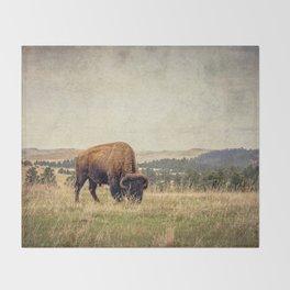 Bison Land Throw Blanket