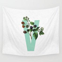 Letter 'V' Monogram Wall Tapestry