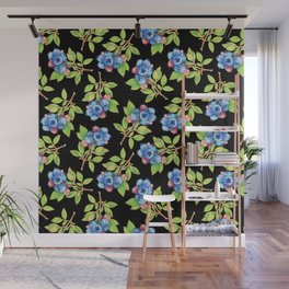 Wild Blueberry Sprigs Wall Mural