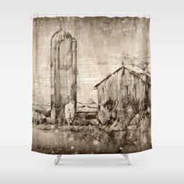 A Family Farm Shower Curtain