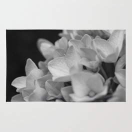 Boquet of black and white Rug