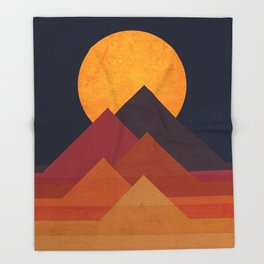 Full moon and pyramid Throw Blanket