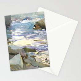 Stream and Rocks by John Singer Sargent, 1901 Stationery Cards