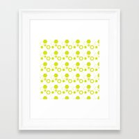 polygon Framed Art Prints featuring Polygon by Julianne Chia