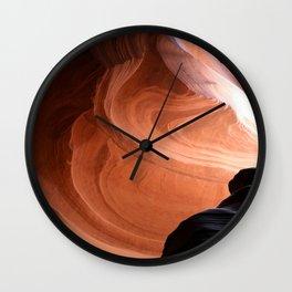 Antelope Canyon Reddish And Blue Tones Wall Clock