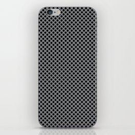 Sharkskin and Black Polka Dots iPhone Skin