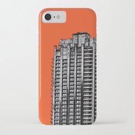 Barbican London (orange) iPhone Case