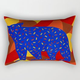 Bear Silhouette with Autumn-Colored Sprinkles Rectangular Pillow