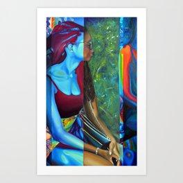 Blue Spirit, 50-80cm, 2015, oil on canvas Art Print