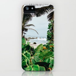 The surfer's spot in Barbados iPhone Case