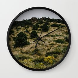 Hill of Green in Big Bend National Park, TX Wall Clock