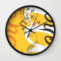 font Wall Clocks featuring Mahal Font by John Hernandez Art