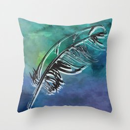 Flying Feather Throw Pillow
