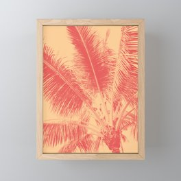 Mango Coral Tropical Palma Framed Mini Art Print