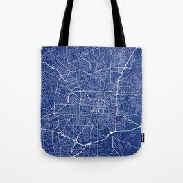 Greensboro Map, USA - Blue Tote Bag