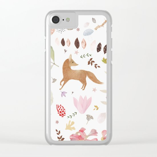 little foxes Clear iPhone Case