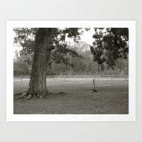 Black & White Swing Art Print