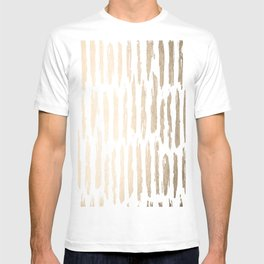 White Gold Sands Vertical Dash T-shirt