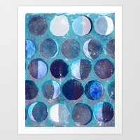 calendar Art Prints featuring lunar calendar by marella