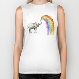Rainbow Baby Elephant Biker Tank