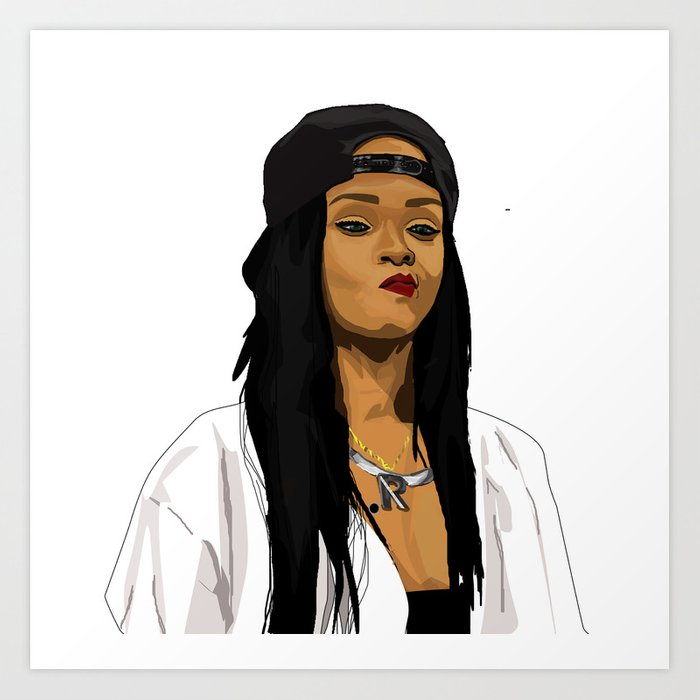 Rihanna Art Print By Mikehanz Society6