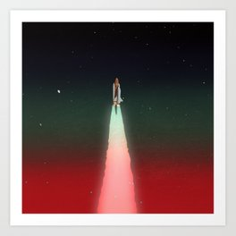 Space Launch Art Print