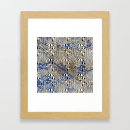 Optical Illusion: Geometric Weave Texture Design Framed Art Print