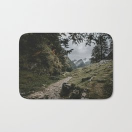 Path to Seealpsee lake in Switzerland mountains Bath Mat