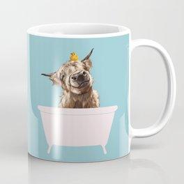 Playful Highland Cow in Bathtub Coffee Mug