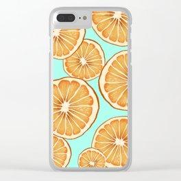 Fresh Oranges Clear iPhone Case