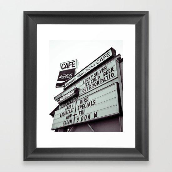 Cafe cool Framed Art Print