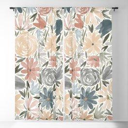 Florals & Foliage (Balloon Florals) Blackout Curtain