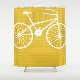 Yellow Bike by Friztin Shower Curtain